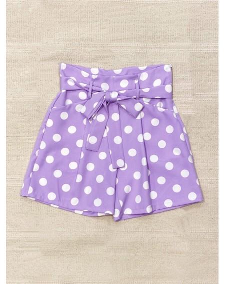 Shorts pois lilla